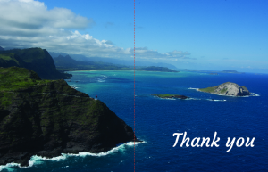 Makapuu thank you cards