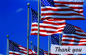 patriotic thank you cards Outside