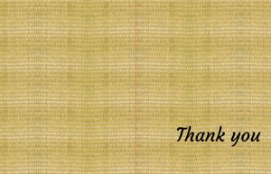 Tatami Mat thank you cards