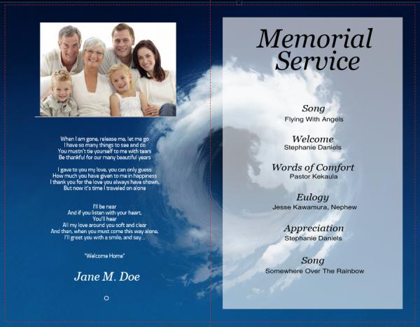 funeral program text