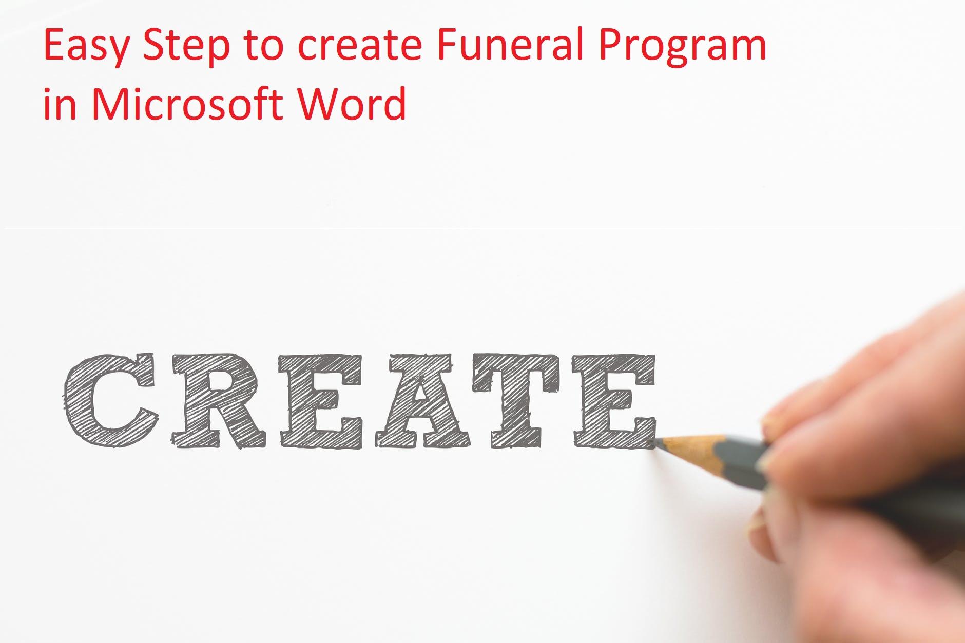 Create Funeral Program in microsoft Word